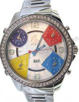 Jacob & Co Five Time Zone Full Size, Steel Braclet Replica Watch