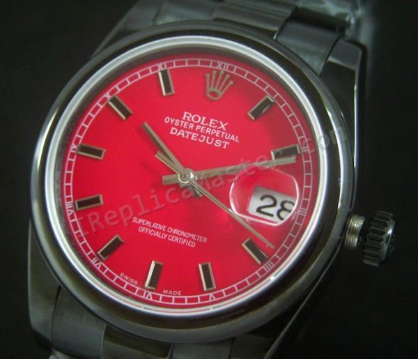 Rolex Datejust Красного Dial. Swiss Watch реплики