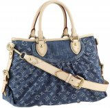 Louis Vuitton Monogram Denim Neo Cabby Mm Replica Borsa Blue M95350
