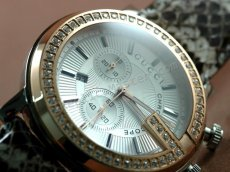 09457b7fbef Gucci 101 G Chronograph Diamonds Swiss Replica Watch -  170   Swiss ...