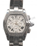 Cartier Roadster Calendar Diamonds Replica Watch