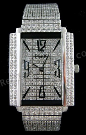 Piaget Black Tie 1967 Watch All Diamonds Swiss Replica Watch