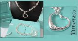 Tiffany Set Of Silver Necklace And Bracelet Replica