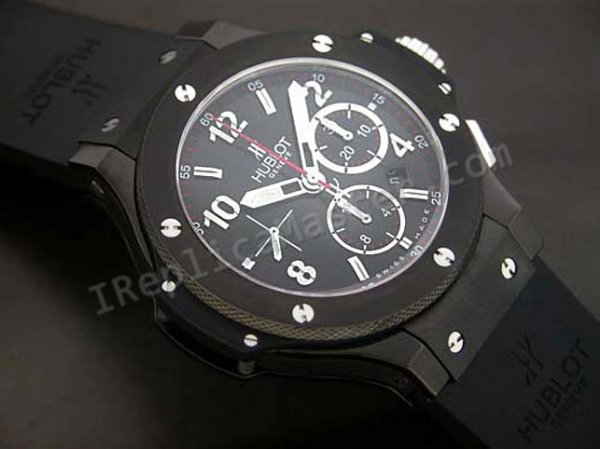 Hublot Big Bang Chronograph Black PVD Swiss Movement Schweizer Replik Uhr