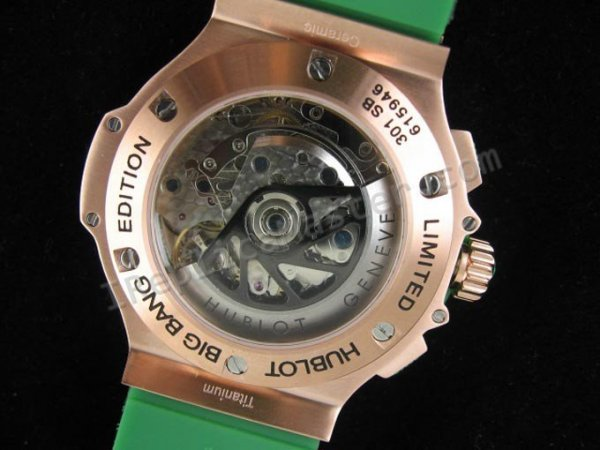 Hublot Big Bang Apple Diamonds Chronograph Schweizer Replik Uhr