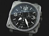 Bell and Ross Instrument BR01-94 Cronograph Diamonds Swiss Replica Watch