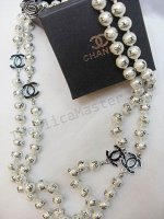 Chanel Black Real Pearl Necklace Replica