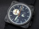 Белл и Росс инструмента BR03-94 Chronograph. Swiss Watch реплики