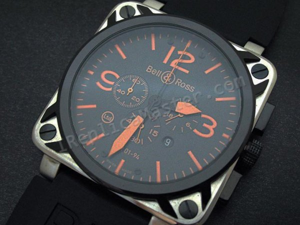 Bell and Ross Instrument BR01-94 Chronograph Swiss Replica Watch - Click Image to Close