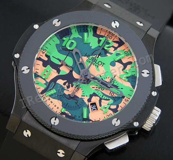 Commando Bang Hublot Green Camouflage Limited Edition svizzeri r Replica Orologio svizzeri